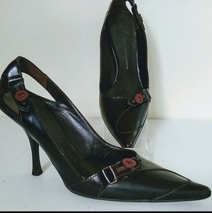 Giuseppe Zanotti heel Buckle brown shoe